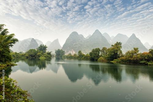 Foto op Aluminium Guilin landscape in Yangshuo Guilin, China