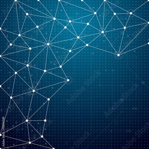 Fototapeta Abstract technological background obraz na płótnie