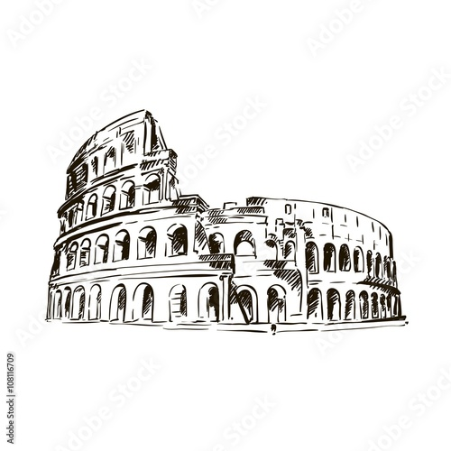 Papel de parede Coliseum. Italy Attractions