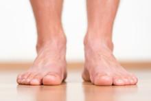 Man Feet Closeup