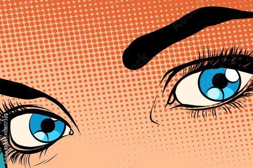 piekna-dziewczyna-oko-efekt-rastrowy-halfton