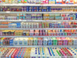 Supermarket shelf defocus background