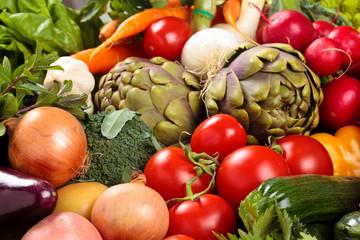 Panel Szklany Warzywa Fresh vegetables background.