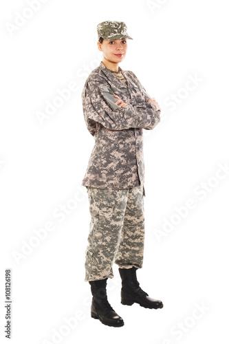 Fotografia  Soldier in the military uniform