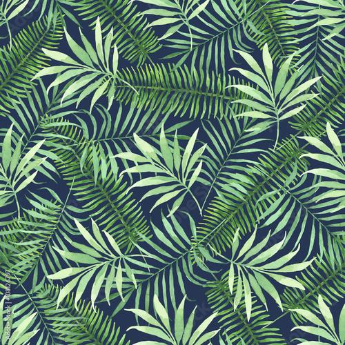 Tropikalny liście na ciemnym tle