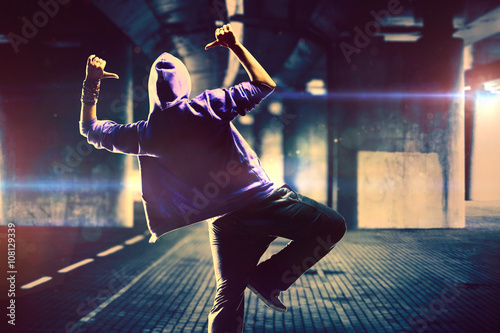 Dancer on urban background Canvas Print