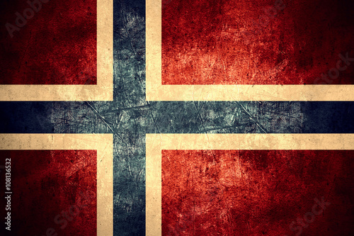 flag of Norway Wallpaper Mural