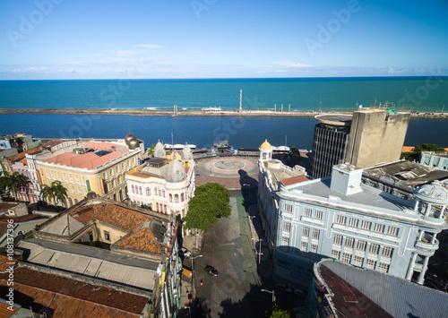 Poster Havana Aerial View of Marco Zero Square, Recife, Brazil