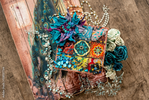 Foto op Aluminium Imagination East and indian turquoise handicraft accessories