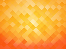 Abstract Tile Orange Background