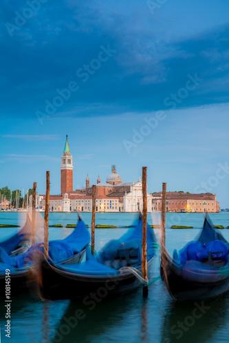 Spoed Foto op Canvas Blick nach San Giorgio Maggiore am Abend, Italien