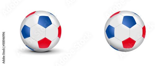 Fotografía Ballon de foot tricolore - Bleu Blanc Rouge