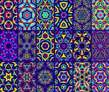 Kaleidoscopic Patterns Set