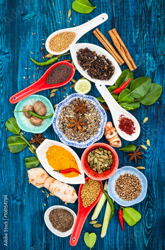 Asian spices - 108154784