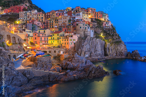 Photo  Sunset in Manarola