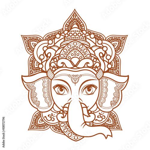 Photo  Hindu elephant head God Lord Ganesh