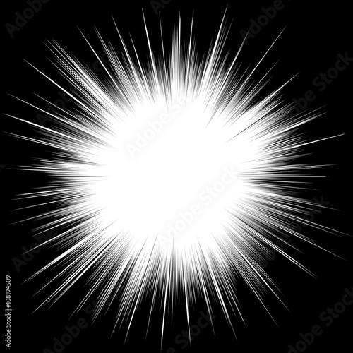 Sun ray or star burst Comic radial lines background Fototapete