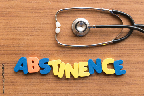 Photo abstinence medical word