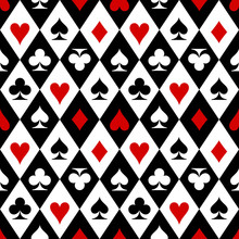 Playing Cards Suit Symbols Pattern