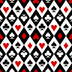 FototapetaPlaying cards suit symbols pattern