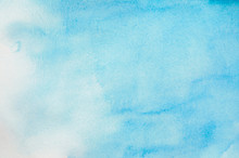 Abstract Blue Watercolor Backg...