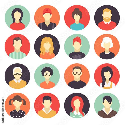 Fotografie, Obraz set of colorful icons.vector illustration