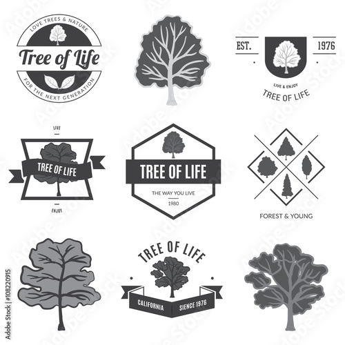 Fotografie, Obraz  Tree of life. Trees fo lables and banners.
