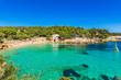 Picturesque bay sand beach Cala Gat in Cala Ratjada Majorca Spain