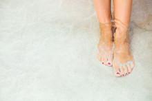 Beautiful Woman's Feet In The ...