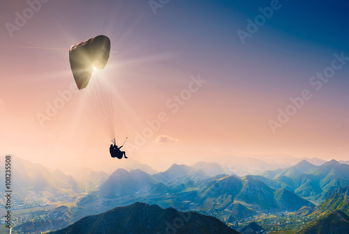 Canvas Prints Sky sports Paragliding_1