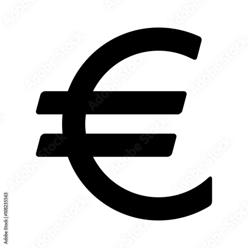 European Euro Currency Or Euro Symbol Flat Icon For Apps And