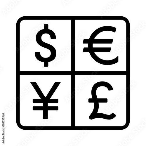 Dollar Euro Yen Yuan And Pound Currency Exchange Or Currency