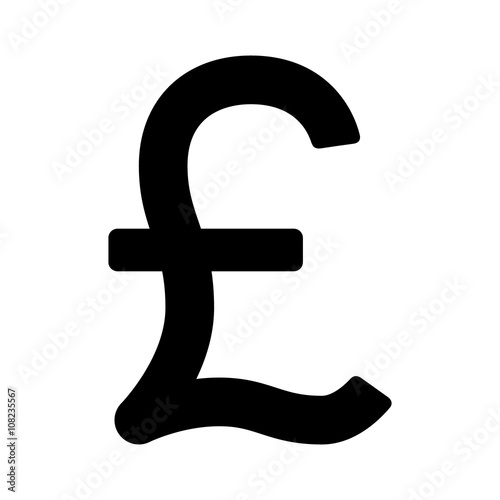 British Pound Sterling Currency Or Pound Symbol Flat Icon For Apps