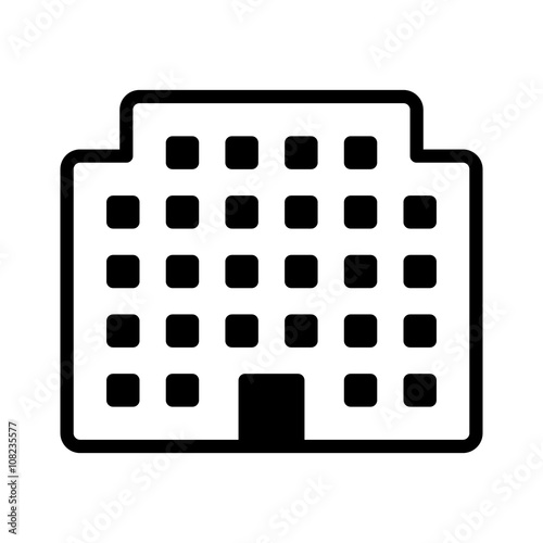 Photo  Corporation office building or residential building line art icon for apps and w