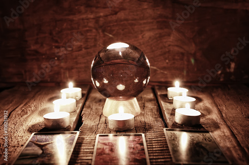 Photo  future teller candle divination