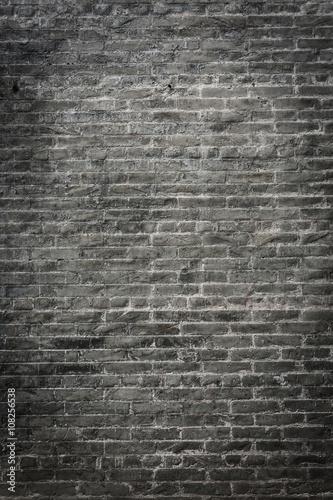 Photo  dark brick wall background