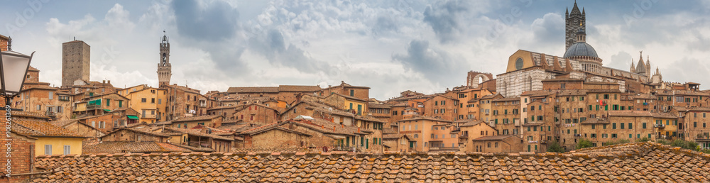 The medieval city of Siena in southern Tuscany, Italy