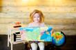 little girl traveler