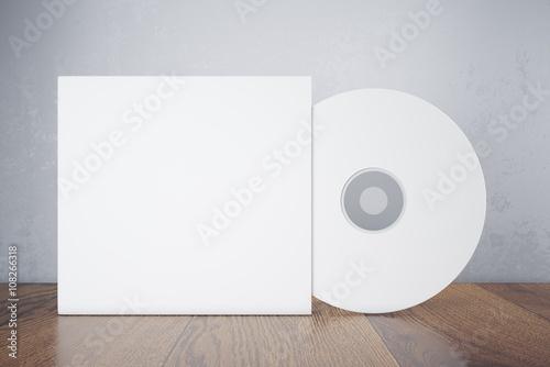 Obraz Blank white disk - fototapety do salonu