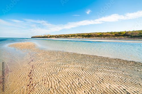 Fotografie, Obraz  Sonnig-warmer Herbsttag am Meer, Sandbank an der Ostsee, Strandwanderung, Meckle