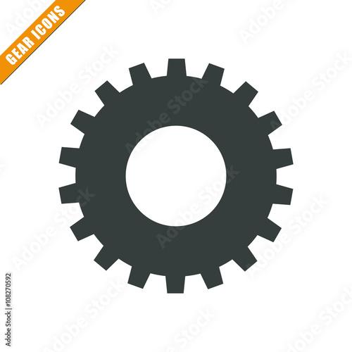 Vector illustration of gear icon, gear icon button, vector gear icon, gear icon Poster