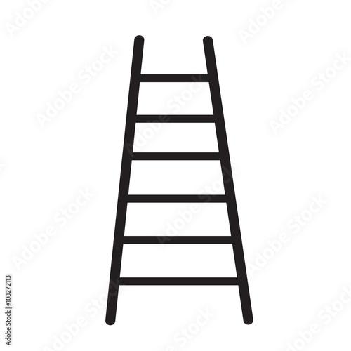 Fototapeta ladder icon Illustration design
