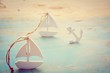 kleine Segelboote - Reisen - Grußkarte