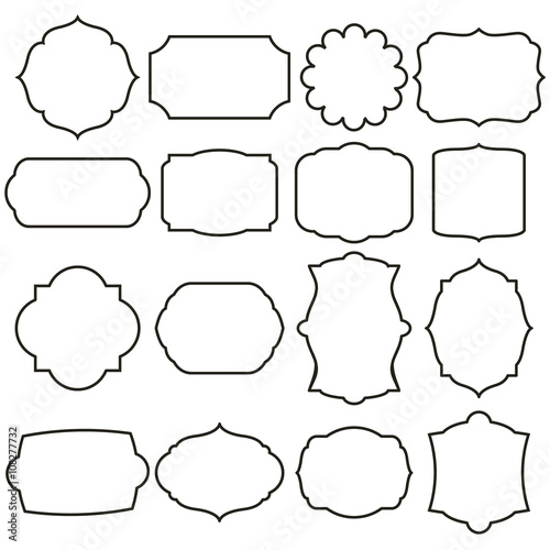 set of vector graphic frames - Buy this stock vector and explore ...