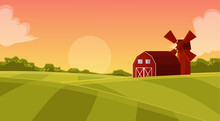 Red Hangar At The Farmers Fiel...