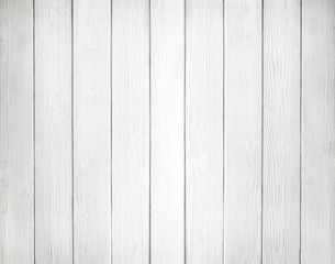 FototapetaWhite background of wooden planks