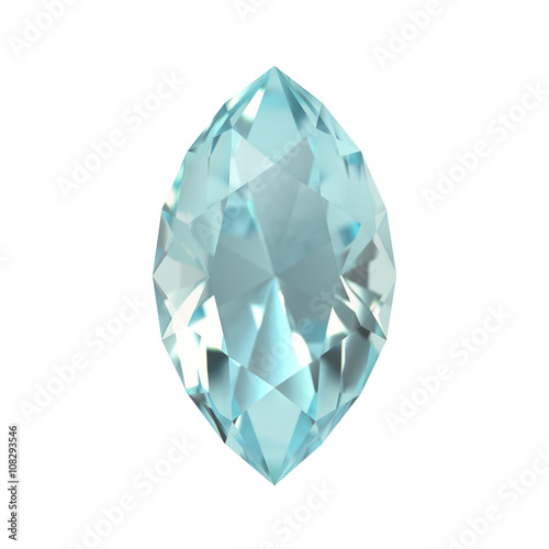 Aquamarine, Jewel, Gem Canvas Print