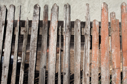 Poster Glisse hiver texture of the old fence