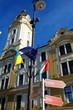 Pecs, Hungary. City in Baranya county. City hall tower