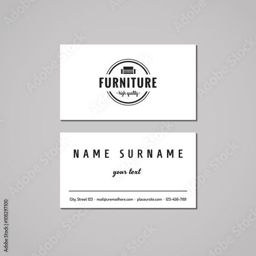 vintage furniture logo. Beautiful Vintage Furniture Business Card Design Concept Logo With Couch And  Circle Vintage Hipster Inside Vintage Logo